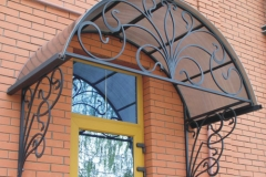 кованые козырьки в Казани