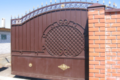 кованые откатные ворота